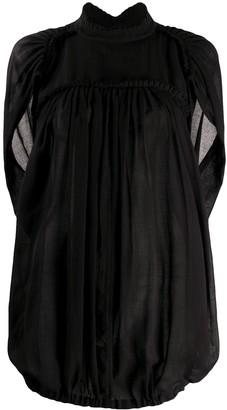 Ann Demeulemeester Frill-Trimmed Loose-Fit Blouse