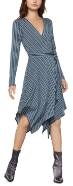 BCBGMAXAZRIA Handkerchief-Hem Wrap Dress
