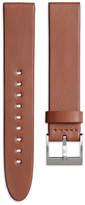 Uniform Wares Men's straight profile nappa calf leather watch strap in tan with brushed steel buckle