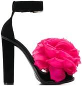 Alexander McQueen flower applique sandals