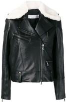 Victoria Victoria Beckham shearling collar biker jacket
