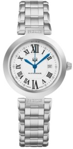 Stuhrling Original Alexander Watch AD203B-01, Ladies Quartz Date Watch with Stainless Steel Case on Stainless Steel Bracelet