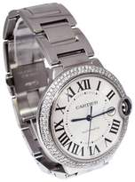 Cartier Ballon Bleu 3001 Stainless Steel and Silver Roman Dial Automatic 42mm Mens Watch