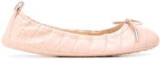 Tod's Ruched Ballerina Shoes
