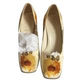Prada Ecru Cloth Heels