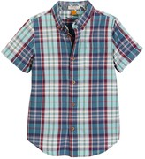 Tailor Vintage Short Sleeve Madras Plaid Shirt (Little Boys & Big Boys)