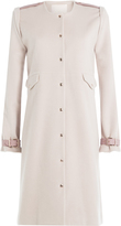 Marina Hoermanseder Wool-Angora Blend Coat with Leather Deatils