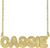 JCPenney FINE JEWELRY Personalized 14K Gold Over Silver Bold Name Necklace