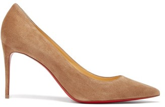 Christian Louboutin Kate 85 Suede Pumps - Brown