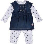 3 Pommes 3Pommes Baby Girls' Cute Little Cat Clothing Set,6-9 Months