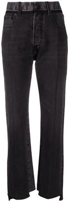 Maison Margiela High-Waisted Raw Hem Jeans