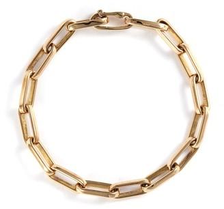 Loquet London 14k yellow gold chain link bracelet - Large