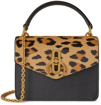 Mulberry Small Amberley Crossbody Camel and Black Leopard Haircalf and Silky Calf