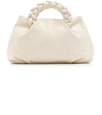 Hereu Bombon Large Braided Leather Top Handle Bag