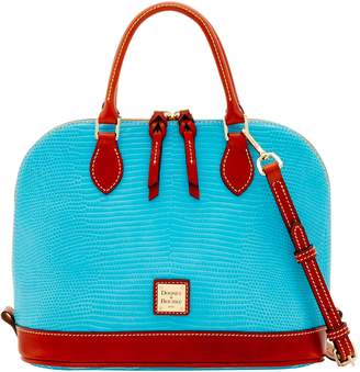 Dooney & Bourke Embossed Lizard Zip Zip Satchel