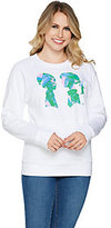 Boy Meets Girl Mix Media Sweatshirt