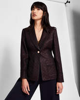 Ted Baker Jacquard piping suit jacket