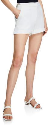 Cinq à Sept Elaine Crepe Flat-Front Shorts
