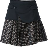 A.F.Vandevorst pleated jacquard skirt