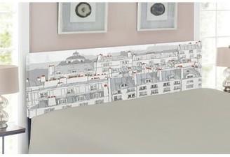 East Urban Home Paris Upholstered Panel Headboard Size: Queen