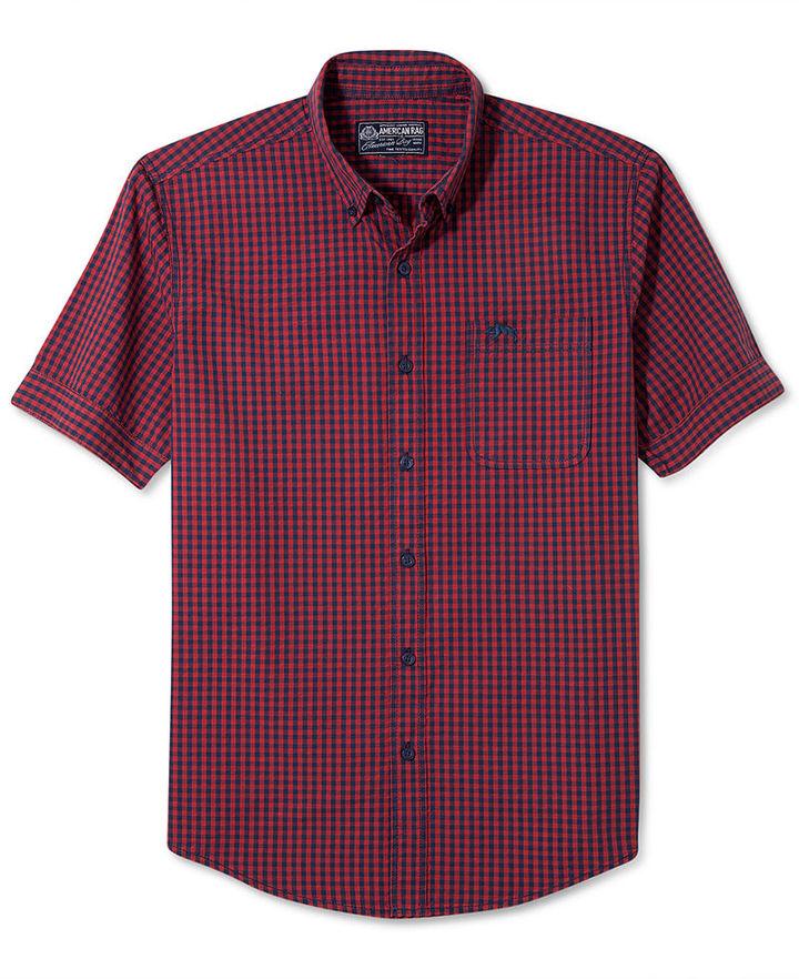 American Rag Shirt, Gingham Short Sleeve Shirt