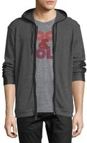 John Varvatos Two Color Zip Front Waffle H