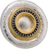 Gurhan 24K Yellow Gold & Sterling Silver Moon Beam Circle Black Diamond Ring