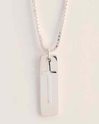 Jean Claude Silver-Tone Cross Pendant Necklace