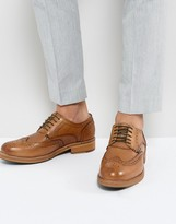 Ben Sherman Patrick Brogues In Tan Leather
