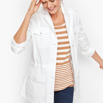 Talbots Stretch Canvas Cotton Jacket