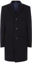 Jaeger Wool Cashmere Overcoat, Navy