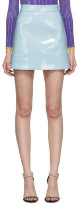 Emilio Pucci Blue Vinyl Miniskirt