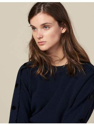 Sandro Sweater With Buttons On The Sleeves