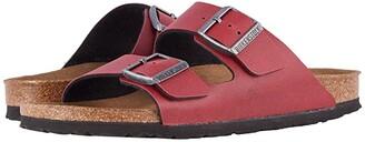 Birkenstock Arizona Vegan (Bordeaux Pull Up) Sandals