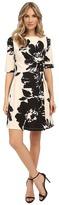 Christin Michaels Celeste 3/4 Sleeve Flare Dress