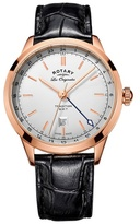 Rotary Gents Rose Gold Plated Strap Watch Gs90183/02