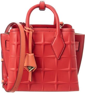 MCM Neo Milla Diamond Leather Top Handle Tote