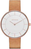 Skagen Women's Brown Leather Strap Watch 38mm SKW2558