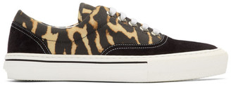 Burberry Black and Yellow Wilson Leo Sneakers