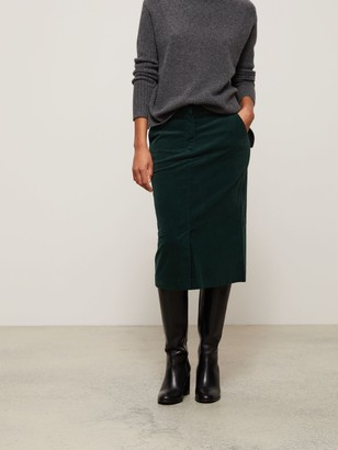 John Lewis & Partners Cord Straight Midi Skirt