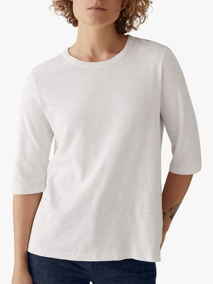 Toast Emma Cotton Half Sleeve T-Shirt, Chalk White