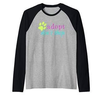 Adopt Don't Shop Animal Lover Lovers Distressed Graphic Gift Raglan Baseball Tee