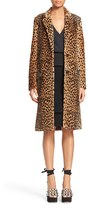 Alexander Wang Women's Cheetah Print Genuine Kangaroo Fur Coat