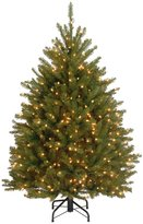 National Tree 4 1/2' Dunhill Fir Hinged Tree with 450 Clear Lights - 48 in. - 60 in.