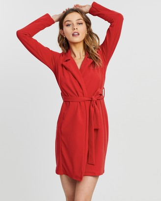 Missguided LS Belted Blazer Dress