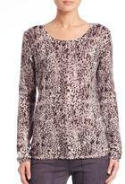 Joie Liana Inky Dot-Print Sweater