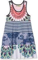 Desigual Girl's VEST_BOTON Dress,(Manufacturer Size: 3/4)