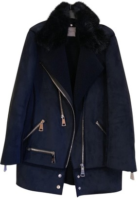 Urban Code Urbancode Blue Faux fur Jacket for Women