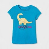 Cat & Jack Toddler Girls' Graphic T-Shirt - Cat & Jack Panama Blue