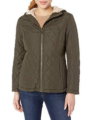 HFX Women's Quilted Cozy Sherpa Lined Jacket